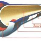 Труба чугунная ВЧШГ-80, 6 м, Тайтон, без ЦПП