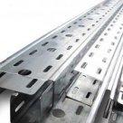 Швеллер перфорированный ШП 100x50x3000 ТУ 36-1434-82 тип К024 1 или 3 перфорации, толщина 1,5