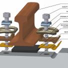 Скрепление жбр на металлическом упоре и закладном болте