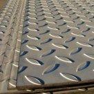 Лист рифленый сталь 3пс, 3сп, 3кп 8568-77 ромб, чечевица в Челябинске