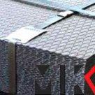 Лист рифленый 4х1250х2500 сталь 3 ромб ГОСТ 8568-77 в Иркутске