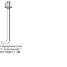 Болт фундаментный, анкерный, тип1, исп1, ГОСТ 24379-80, М16 в России