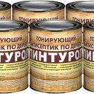 Пинтурол - тонирующий антисептик для древесины на органических растворителях, уп/6шт/0,7кг в России