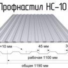 Профлист оцинкованный НС-10 в Челябинске