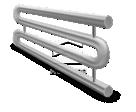 Змеевиковые регистры 2-рядный в Орле