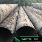 Труба стальная бу 720х10 мм прямошовная с остатками нефти, в пленке в России