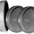 Заглушка для канализации сферическая (элептическая) днища ду 57 для труб