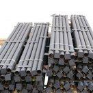 Столб стальной с планками и заглушками без покрытия в России