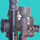 Канализация из чугунных полиэтиленовых труб и ПВХ