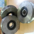 Канатные ролики, блок канатный, колесо канатное, Шкивы, блок