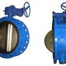 Затвор стальной дисковый с ручным редуктором, уплотнение нержавеющее, Ру16, фланцевое в России