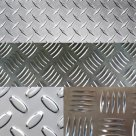 Лист рифленый алюминиевый 4 мм ( квинтет ) в Череповце