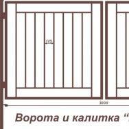 Ворота и калитка ВС-1 грунт