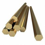 Шестигранник бронзовый БрАЖ 9-4 ДШГНП, ГОСТ 1628-78