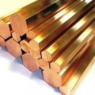 Шестигранник БрАМц9-2 бронзовый