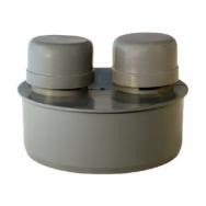 Клапан для стояка канализационный 50 - 500 ПВХ, ПЭ, ПНД полиэтиленовый чугун