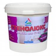 Стенолюкс - высокоукрывистая супербелая краска для стен влажных помещений, с эффектом лотоса