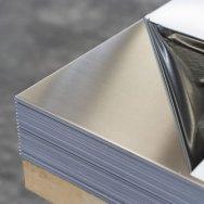 Лист нержавеющий AISI 304 зеркальный в пленке