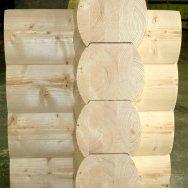 Облицовочный профиль Профилированное Бревно, сталь (полиэстер), длина до 6 м