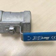 Кран шаровой стальной X1666 Ду50 Ру63 м/м нерж корп 149B5216 Danfoss