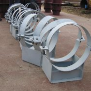 Опора стальная 01 ОСТ 108.275.55-80 (наружный диаметр трубопровода 219 мм)
