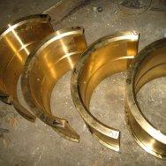 Бронзовые вкладыши, центробежное литье. Производство бронзовых вкладышей.