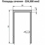 Профиль бортовой окант. (б/ц анод ) НЧП-5095
