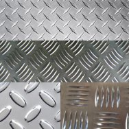 Лист рифленый алюминиевый 4 мм ( квинтет )