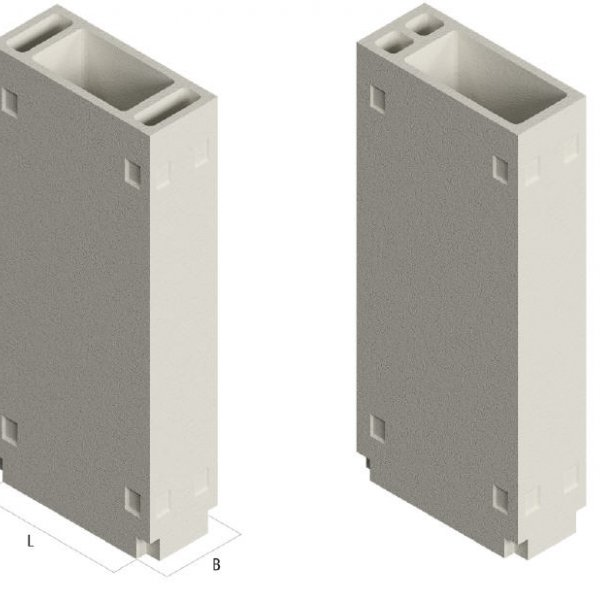 Блок вентиляционный монолитный БВ 28.9.5-1-0, В25 F200 W6