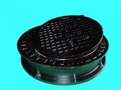 Люк 500мм ГОСТ 3634-99 Чугунный ТВК канализационный