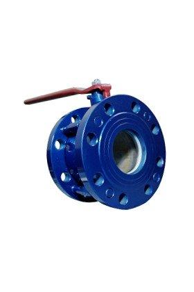 Кран стальной шаровой LD КШРФЭ.080.016.П/П.02 разборный фланец/фланец с электроприводом, полнопроходной, 11С67П