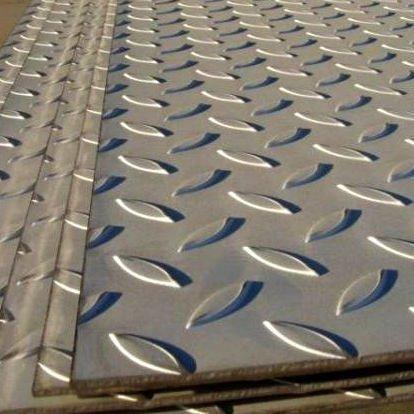 Лист рифленый сталь 3пс, 3сп, 3кп 8568-77 ромб, чечевица