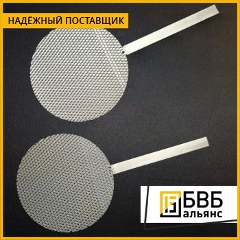 Анод палладиевый Пд99.9 3x200x500 мм ГОСТ 13462-79