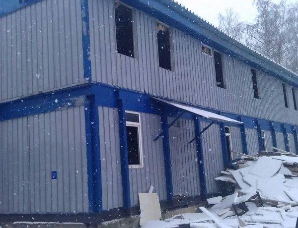 Модульное здание, не утепленная 2-х этажная металлоконструкция, h этажа 2,45м