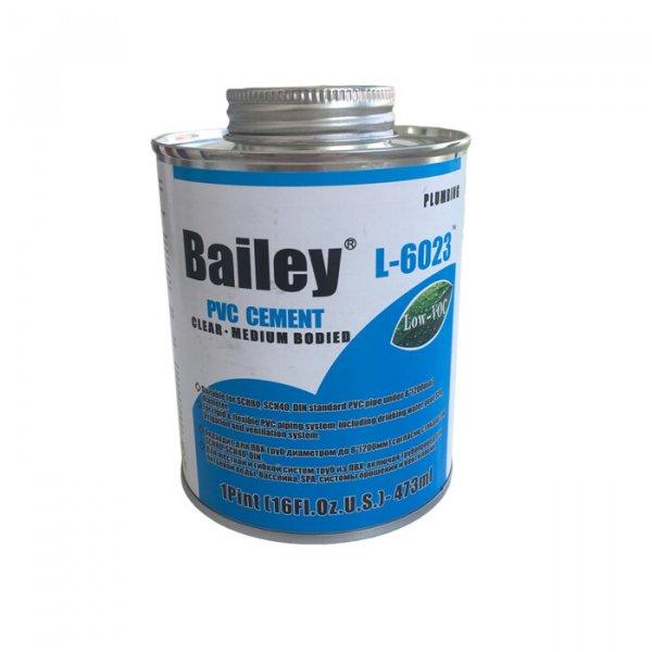 Клей для труб ПВХ 946мл L-6023 Bailey