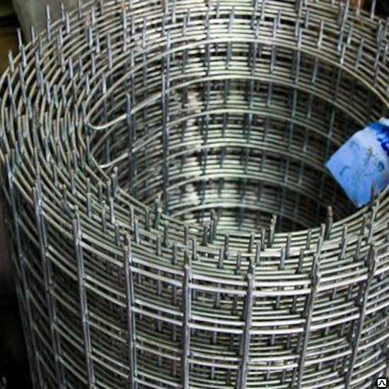 Сетка сварная в рулонах D = 4 мм ячейка 100 х 100 мм ГОСТ 8478-81
