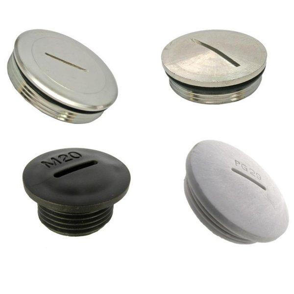 Заглушка алюминиевая и пластиковая для алюминиевого профиля
