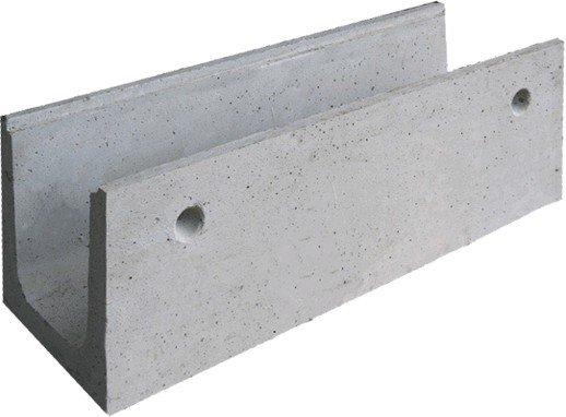 Мелкосидящий бетонный лоток BGF DN100, h 80, с вертикальным водосливом, без уклона