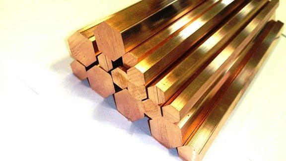 Шестигранник бронзовый БРАМЦ9-2 ГОСТ 1628-78