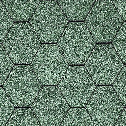 Кровельная плитка KL, соты без тени, зеленый