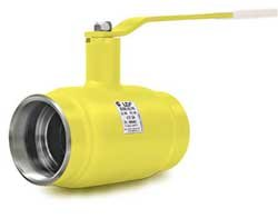 Кран стальной шаровой LD КШ.Ц.Ф.150/125.016.Н/П.02 для газа фланец/фланец, с рукояткой