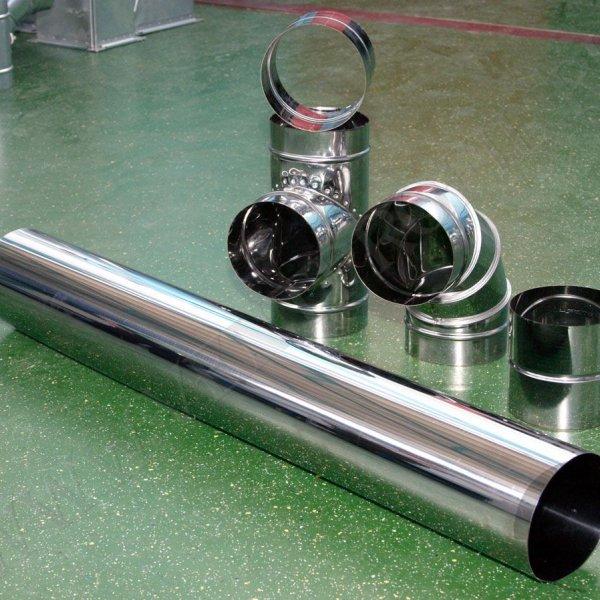 Воздуховод ПВХ круглый Д -100 L - 500 мм 455237