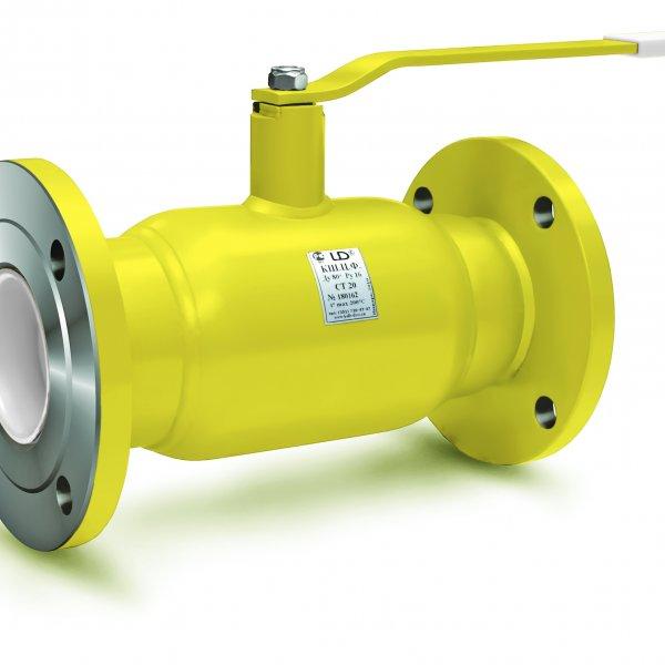 Кран стальной шаровой LD КШ.Ц.Ф.150.025.02полн. фланец/фланец полнопроходной, с рукояткой