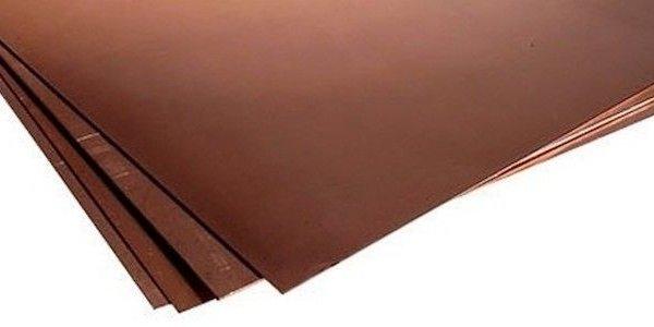 Лист бронзовый 20мм БрБ2
