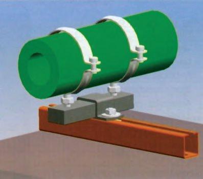 Опоры и подвески технологических пластмассовых трубопроводов