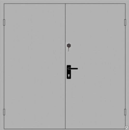 Дверь ДПМ EIS60-02 двустворчатая, стандартных размеров, до 2100х1300 мм