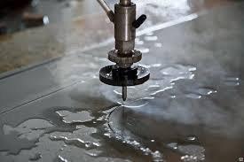 Гидрообразивная резка мрамора