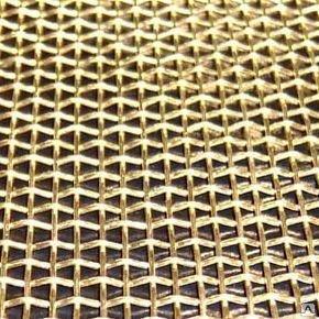 Сетка латунная Л80 ГОСТ 6613-86 3187-76 полутомпаковая фильтровая