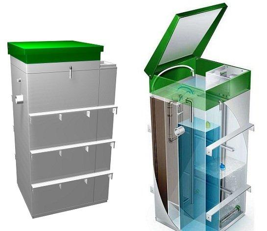 Автономная канализация пластикова полиэтиленовая с бактериями и без